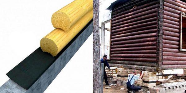 Защита фундамента под деревянными стенами