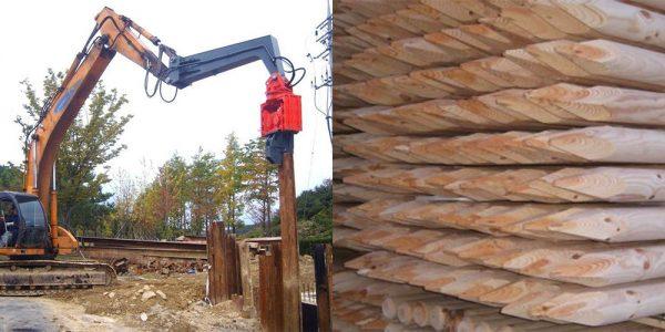 деревянные сваи