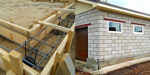 Построить гараж из пеноблоков своими руками цена