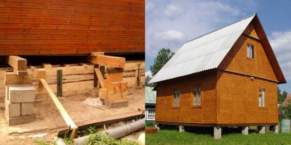 Ремонт столбчатого фундамента дачного дома своими руками