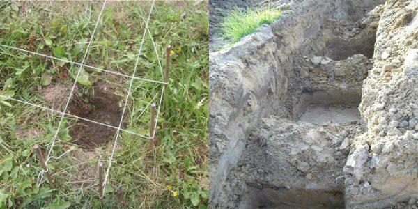 копаем ямы под столбы
