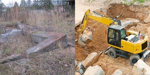 Как убрать старый фундамент