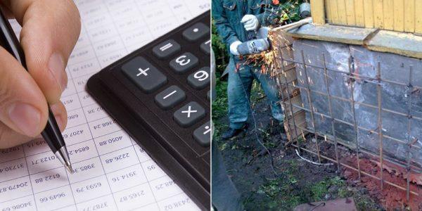 Примерная стоимость работ по ремонту фундамента