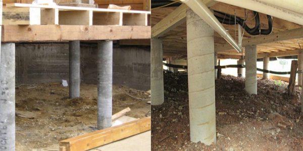 Столбчатый фундамент под сип панели
