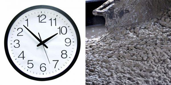 Время застывания бетона