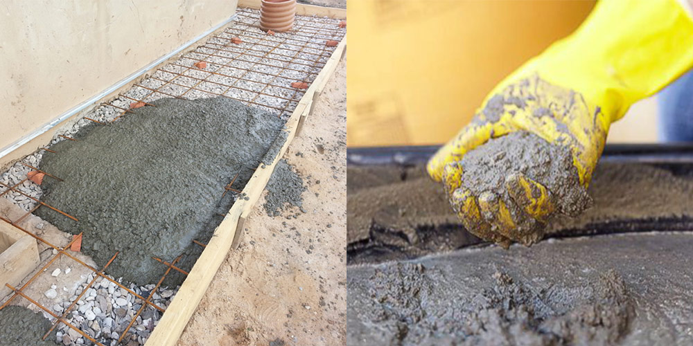 отмостка из цементного раствора