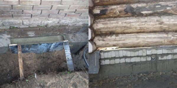Подлив фундамента под старый дом