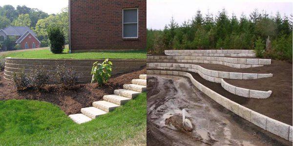 Укрепительные постройки для облагораживания территории: подпорные стенки