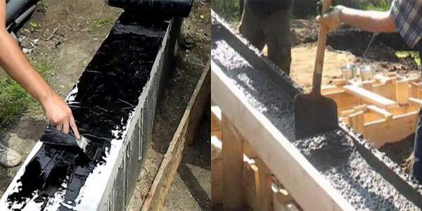 Строительство фундамента под дом из арболита