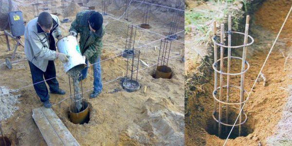 бетонирование свайного основания