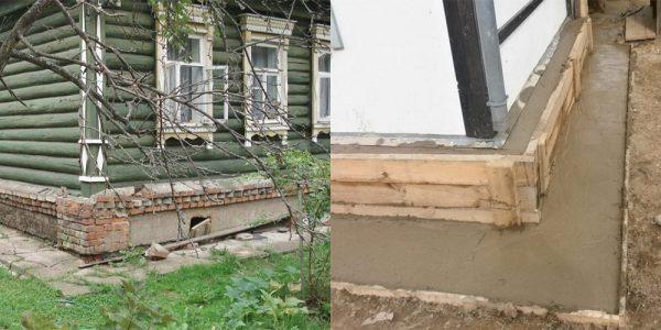 Укрепления фундамента старых домов