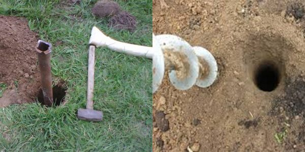 Монтаж труб в землю