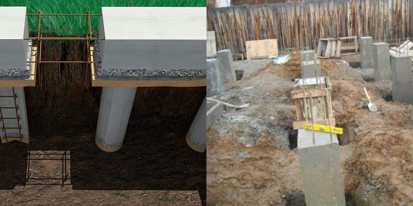 Забирка основания из бетона