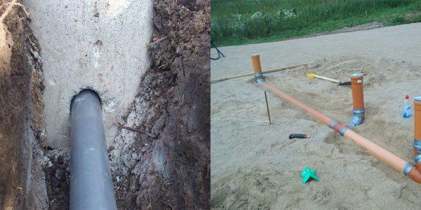 Отверстие для канализации в фундаменте