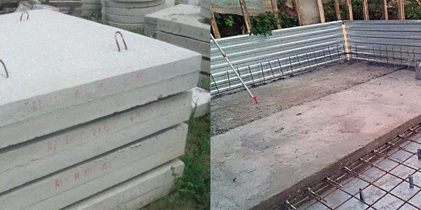 Фундамент из дорожных плит