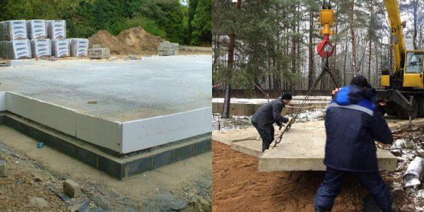 Технология строительства фундамента из дорожных плит