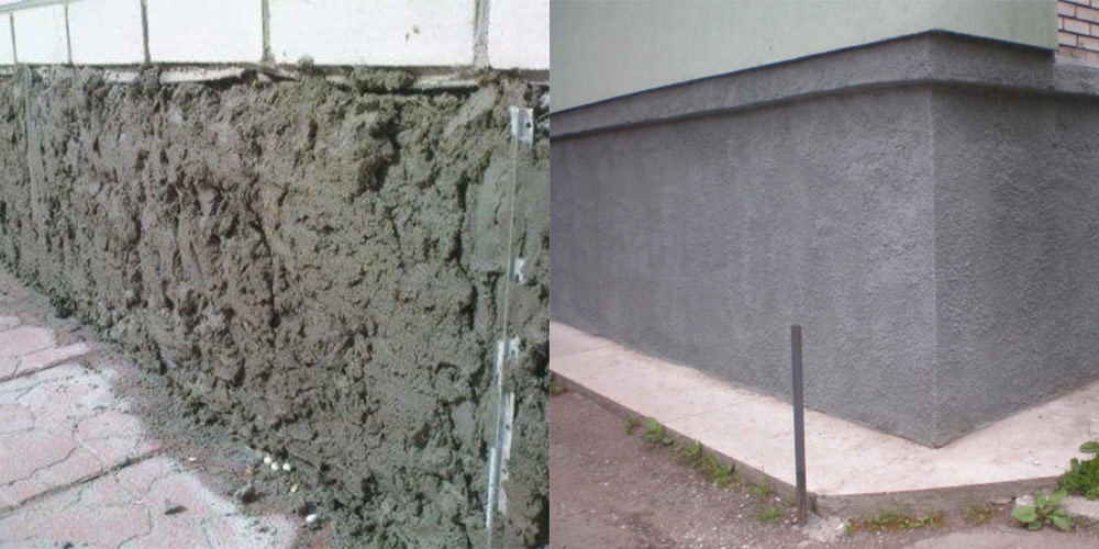 Цоколь дома отделка под камень из цементного раствора фибробетон статья