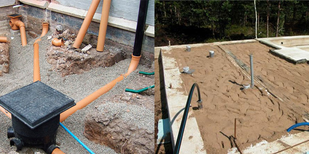заливка канализации бетоном