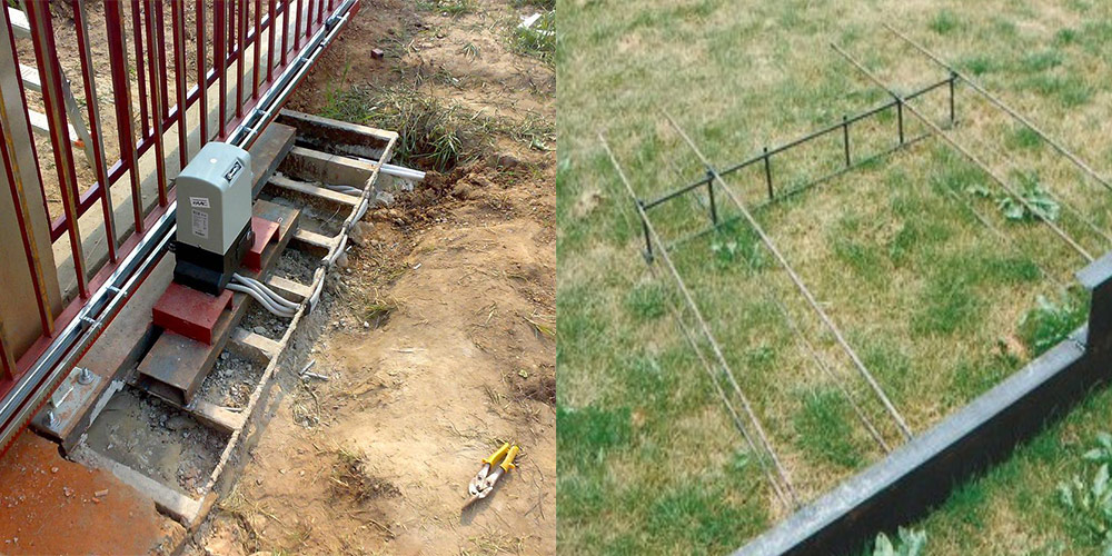 как залить фундамент под откатные ворота