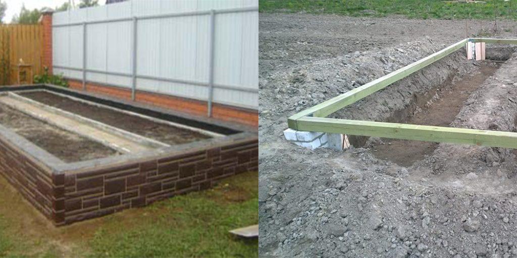 теплица на бетонной плите