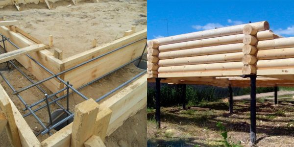 Фундамент для дома из дерева
