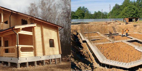 Разновидности фундаментов для домов из дерева