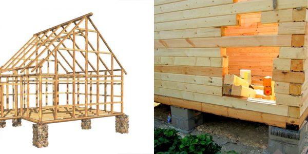 Столбчатый фундамент для дома из сруба