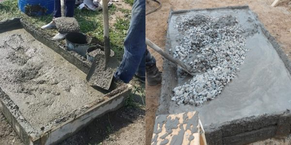 Готовим бетон вручную