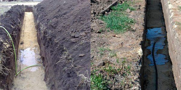 Фундаментная подушка из песка