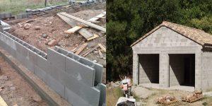 Строим фундамент под гараж из шлакоблока