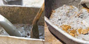 Как развести цемент с песком для фундамента