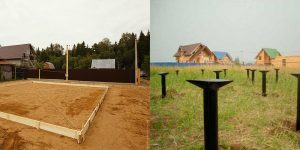 Строим фундамент на песчаном грунте