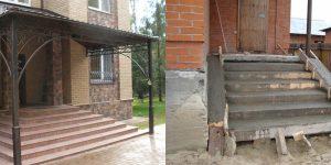 Обустраиваем фундамент под крыльцо дома