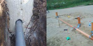 Как сделать отверстие в фундаменте под канализацию или водопровод