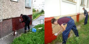 Чем и как покрасить цоколь фундамента