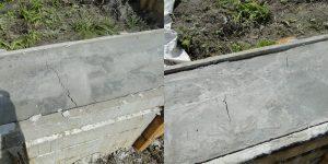 Трещины в фундаменте после заливки