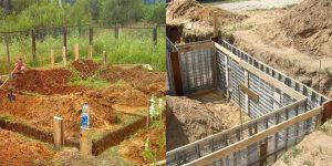 Определяем, на какую глубину копать фундамент под дом